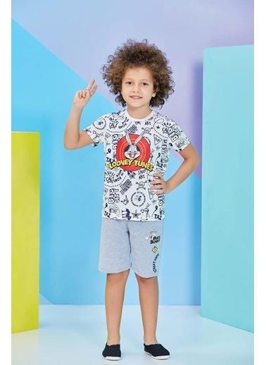 Bugs Bunny Bugs Bunny Lisanslı Açık Sarı Erkek Çocuk Bermuda Takım Krem